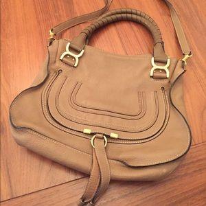 Chloé Medium Marcie leather Satchel bag